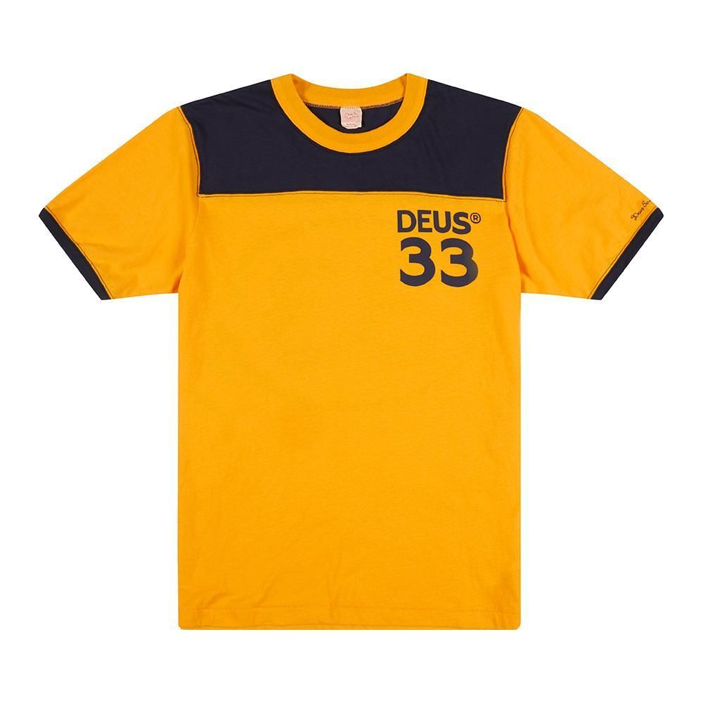 CAMISETA DEUS EX MACHINA HAROLD SPORTS GOLDEN-NAVY