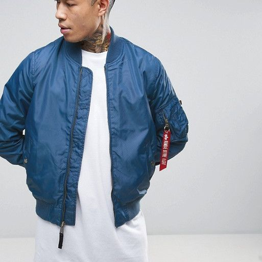 BOMBER ALPHA INDUSTRIES MA-1 TT OCEAN BLUE