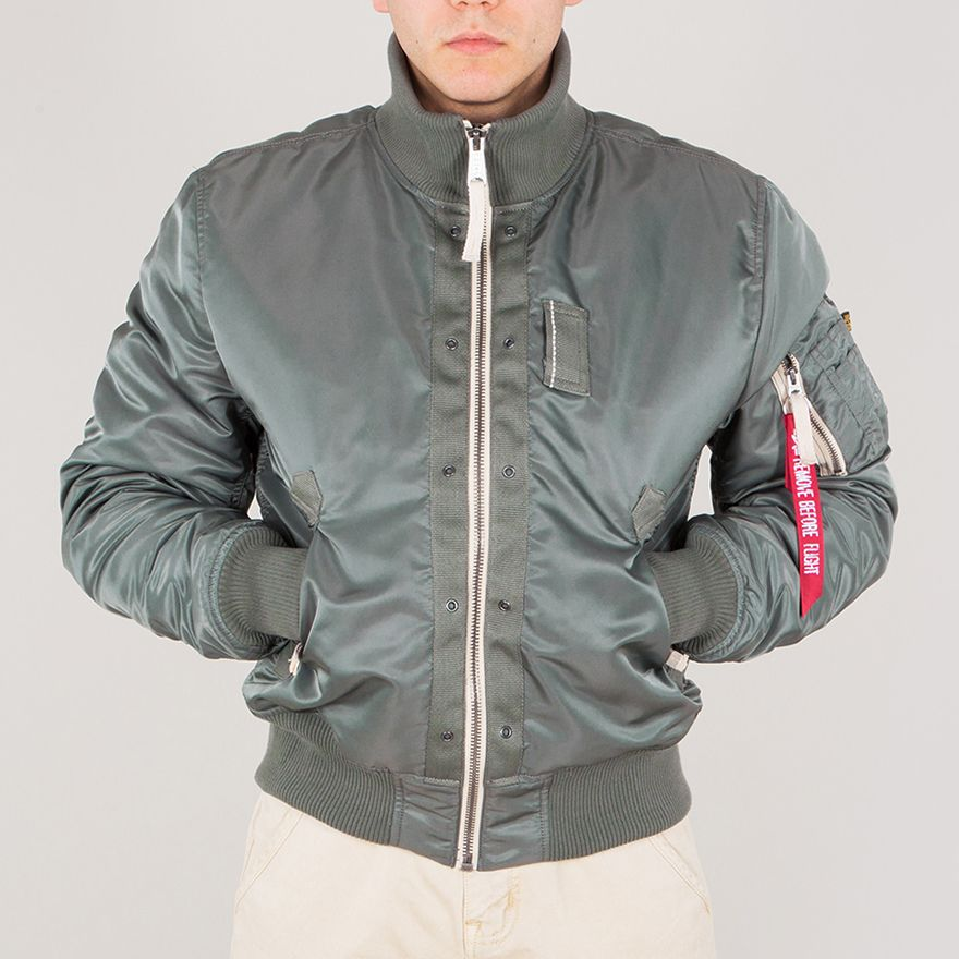 BOMBER ALPHA INDUSTRIES TOP GUN VINTAGE GREEN