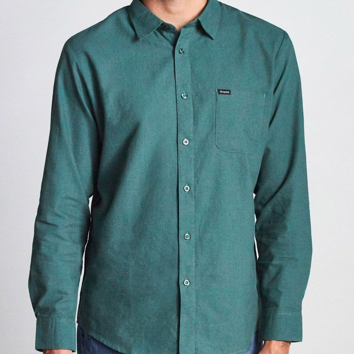 CAMISA BRIXTON CHARTER OXFORD EMERALD