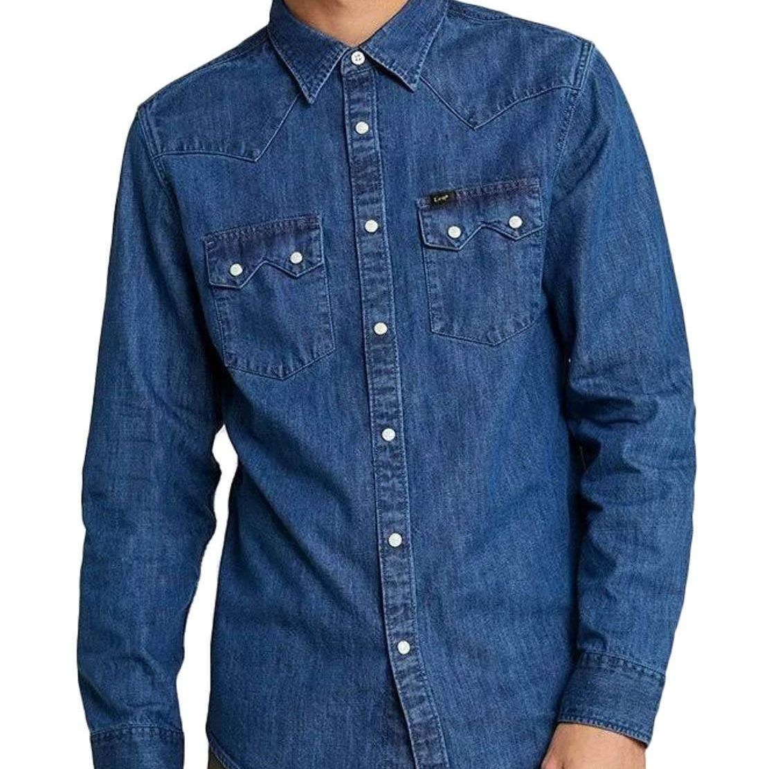 CAMISA LEE RIDER DIPPED BLUE