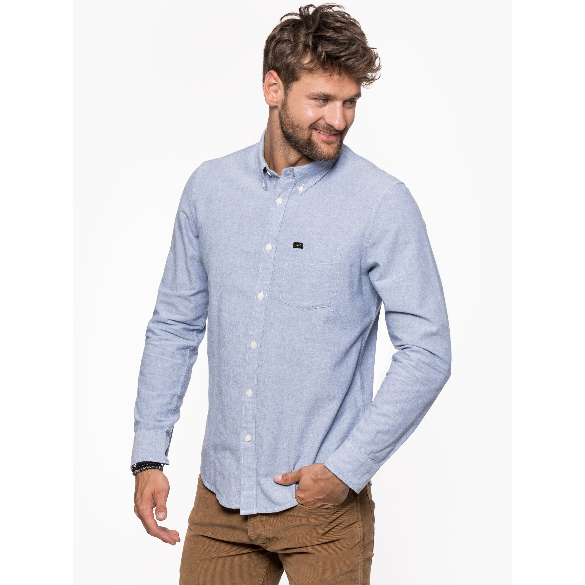 CAMISA LEE BUTTON DOWN BLUE