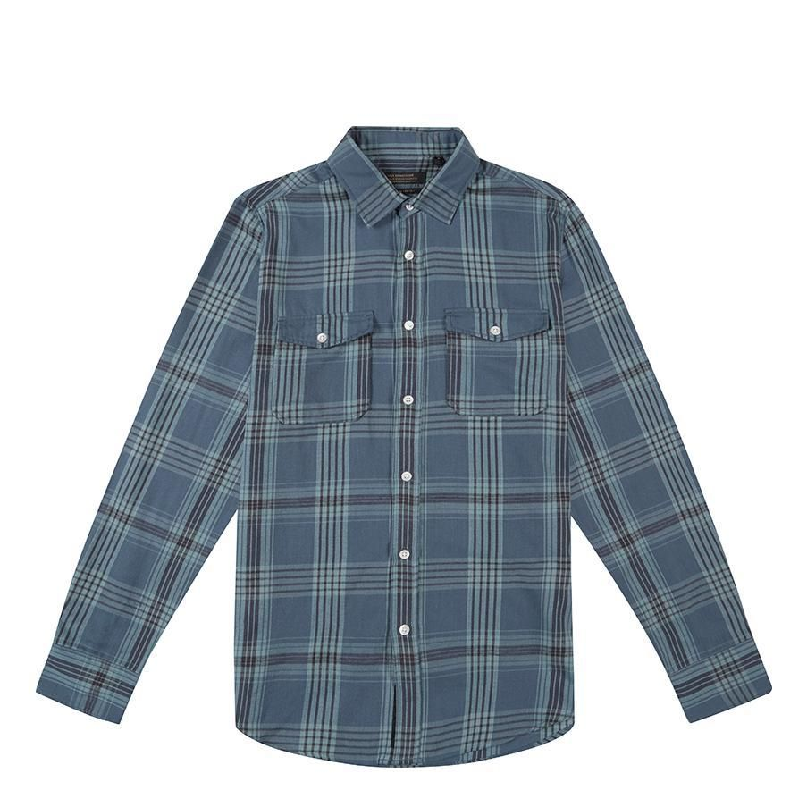 CAMISA DEUS EX MACHINA SMART DARK BLUE PLAID