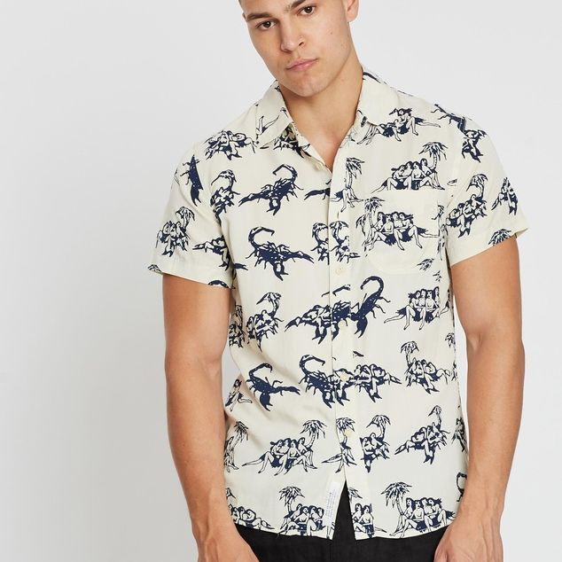 CAMISA DEUS EX MACHINA RALPH SOSO WHITE BLUE