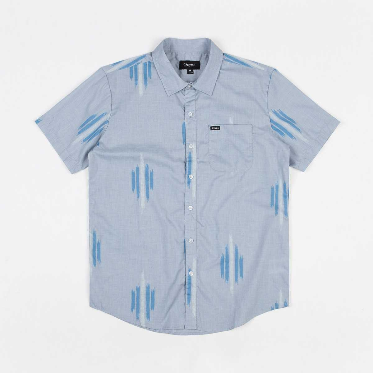CAMISA BRIXTON CHARTER PRINT LIGHT BLUE