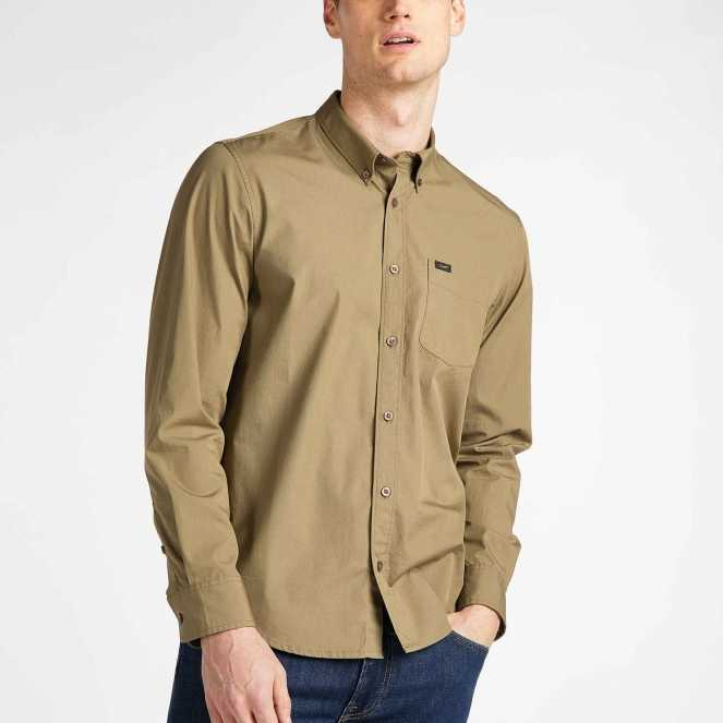 CAMISA LEE BUTTON DOWN REGULAR FIT UTILITY GREEN