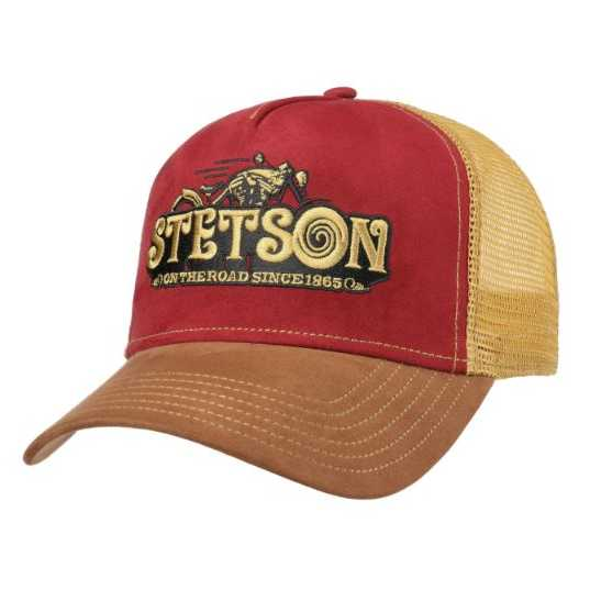 GORRA TRUCKER STETSON ON THE ROAD GRANATE