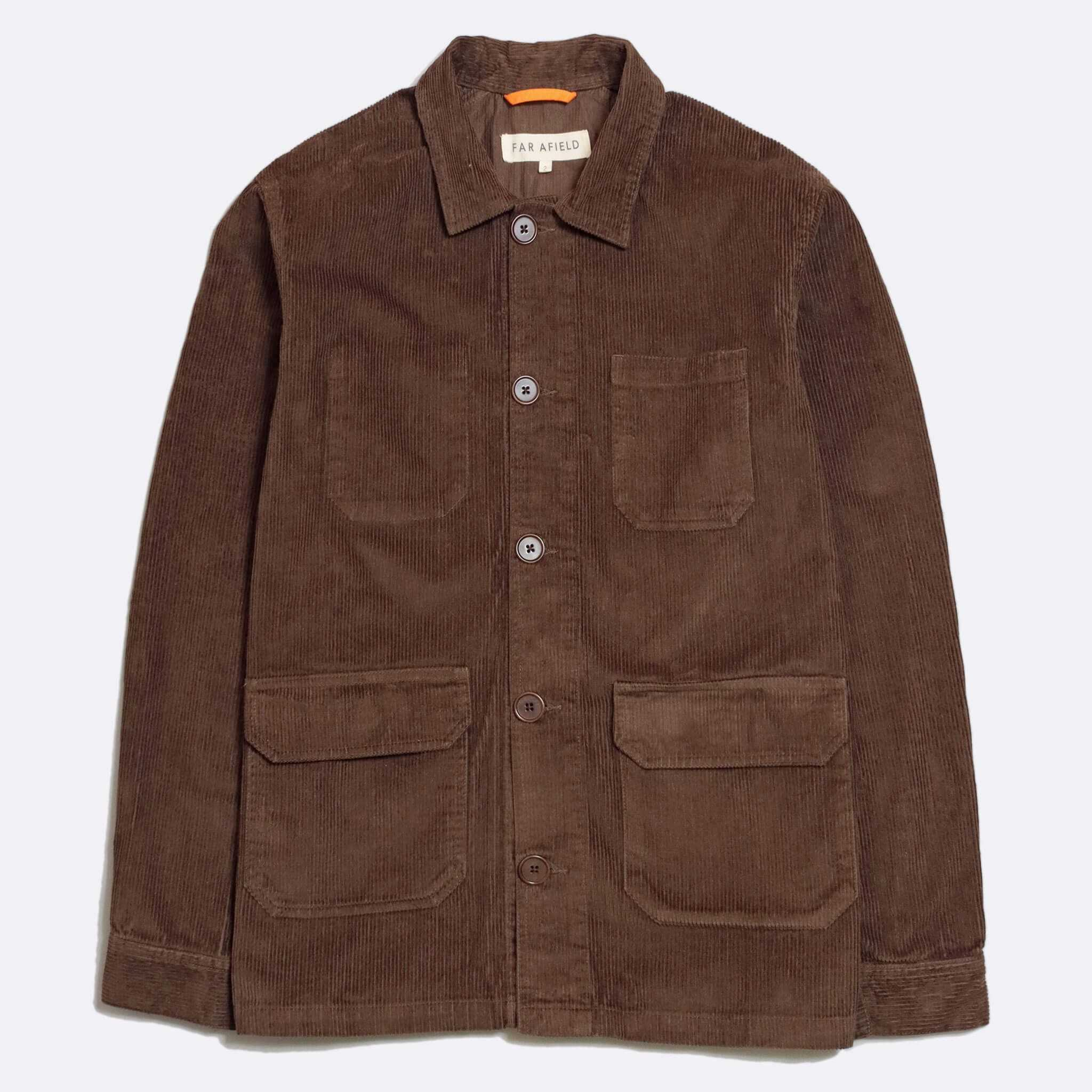 CHAQUETA FAR AFIELD PORTER DARK BROWN
