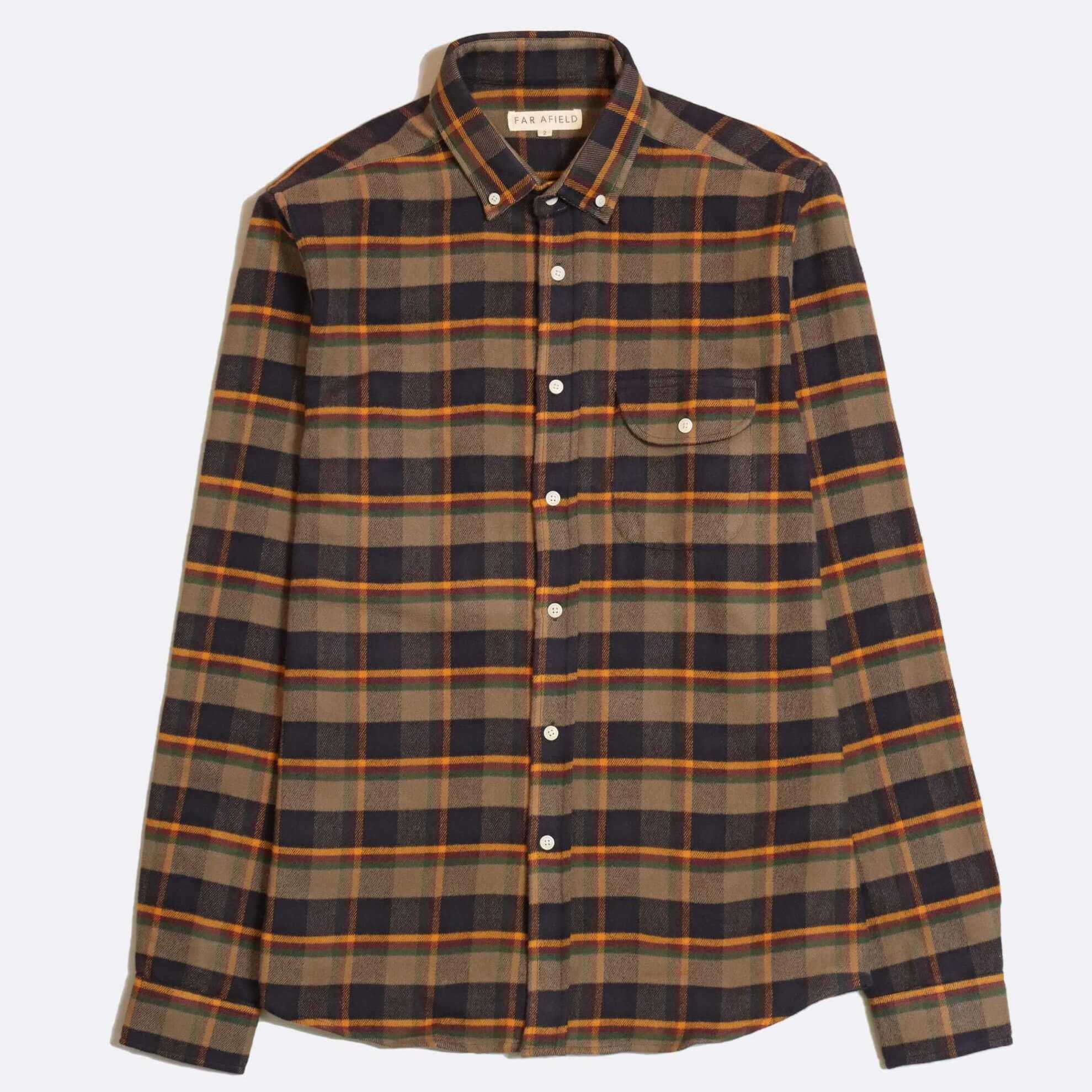 CAMISA FRANELA FAR AFIELD LARRY LONG SLEEVE DARK