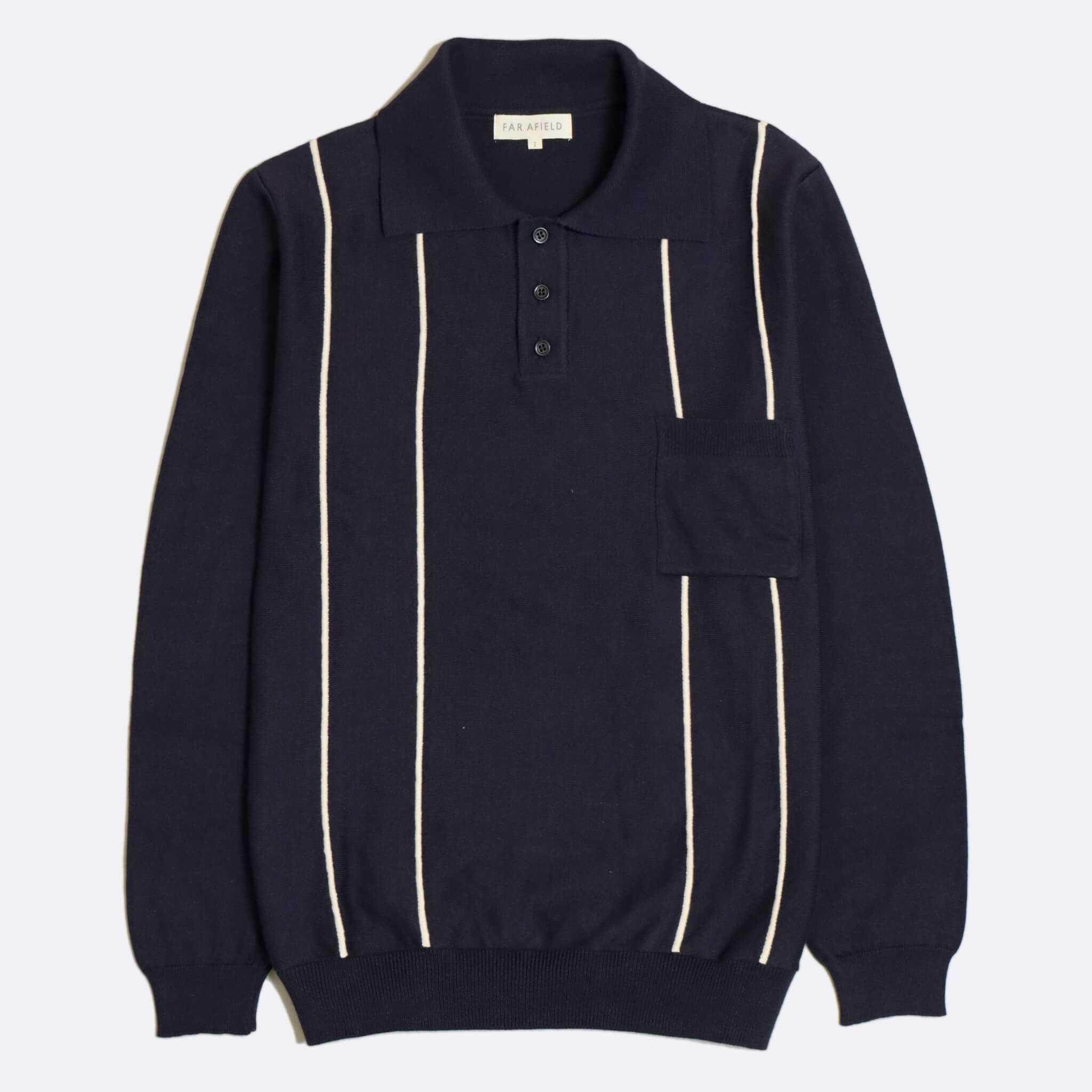 POLO FAR AFIELD ALFARO LONG SLEEVE NAVY