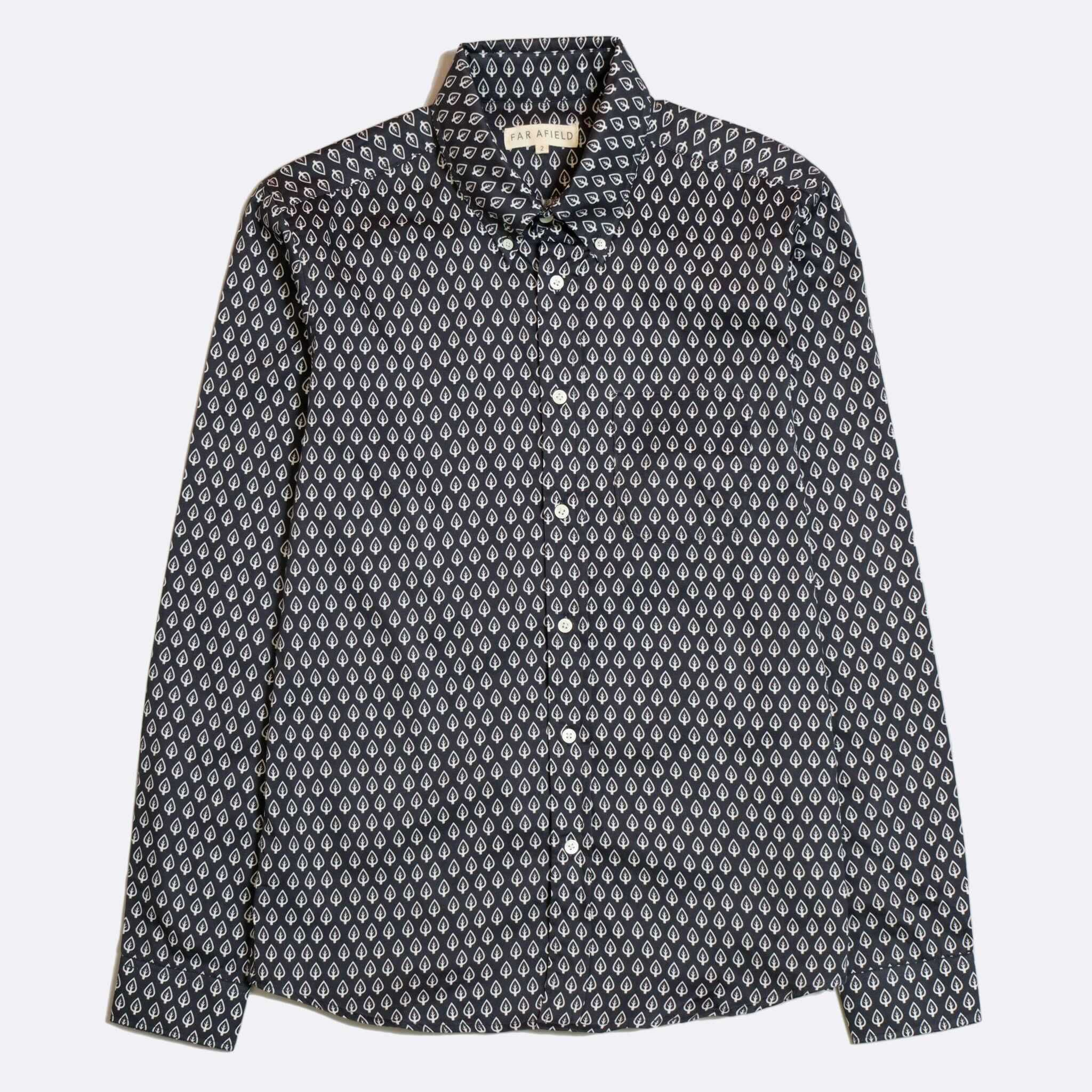CAMISA FAR AFIELD MOD BUTTON DOWN LONG SLEEVE NAVY