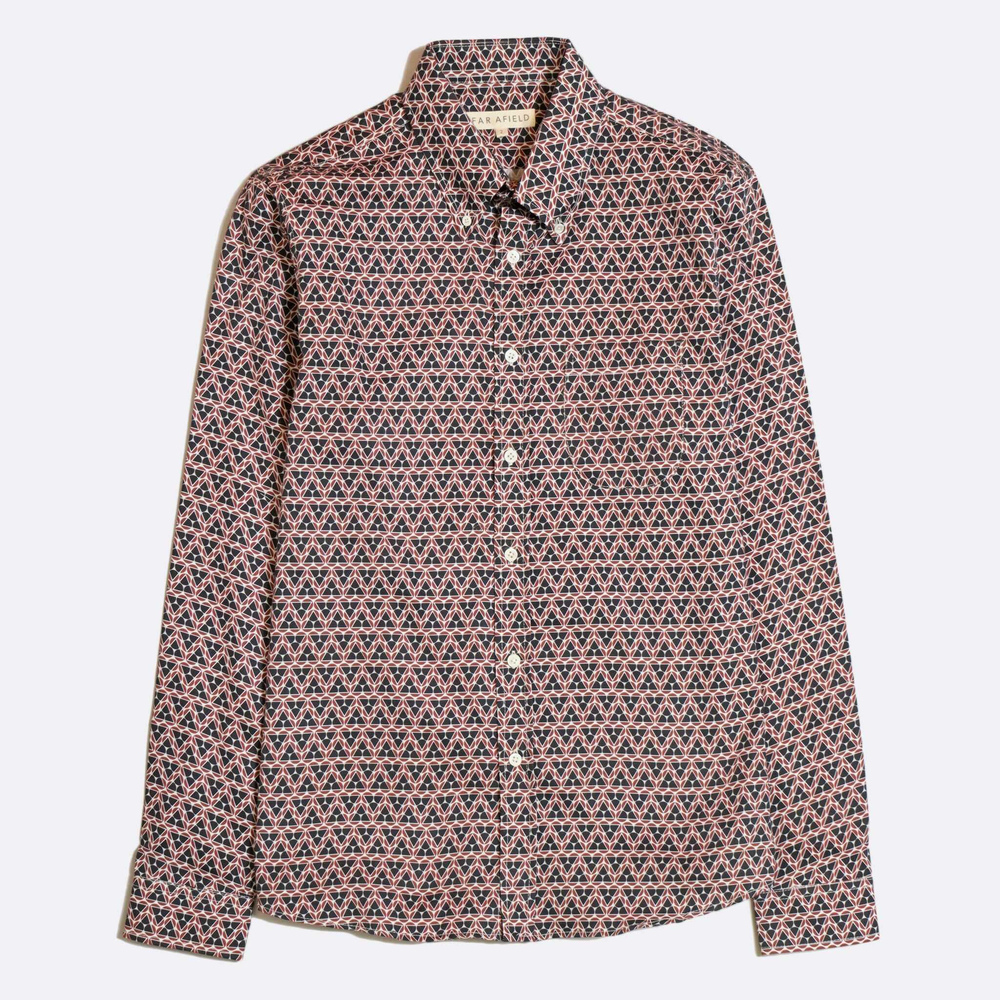 CAMISA FAR AFIELD MOD BUTTON DOWN LONG SLEEVE KLUTIS MAROON
