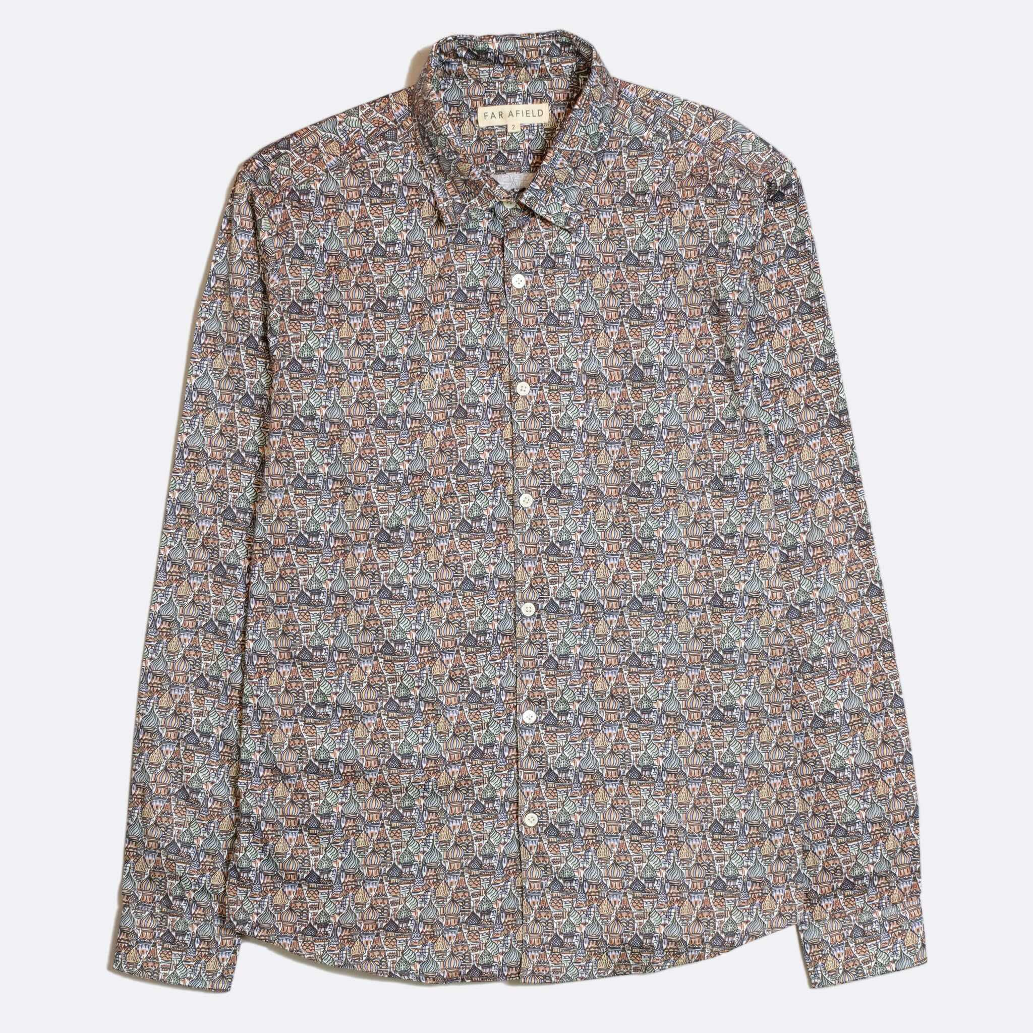 CAMISA FAR AFIELD MOD BUTTON DOWN LONG SLEEVE SPIRES