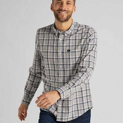 CAMISA LEE BUTTON DOWN IN GREY MELE