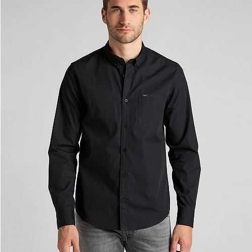 CAMISA LEE BUTTON DOWN IN BLACK