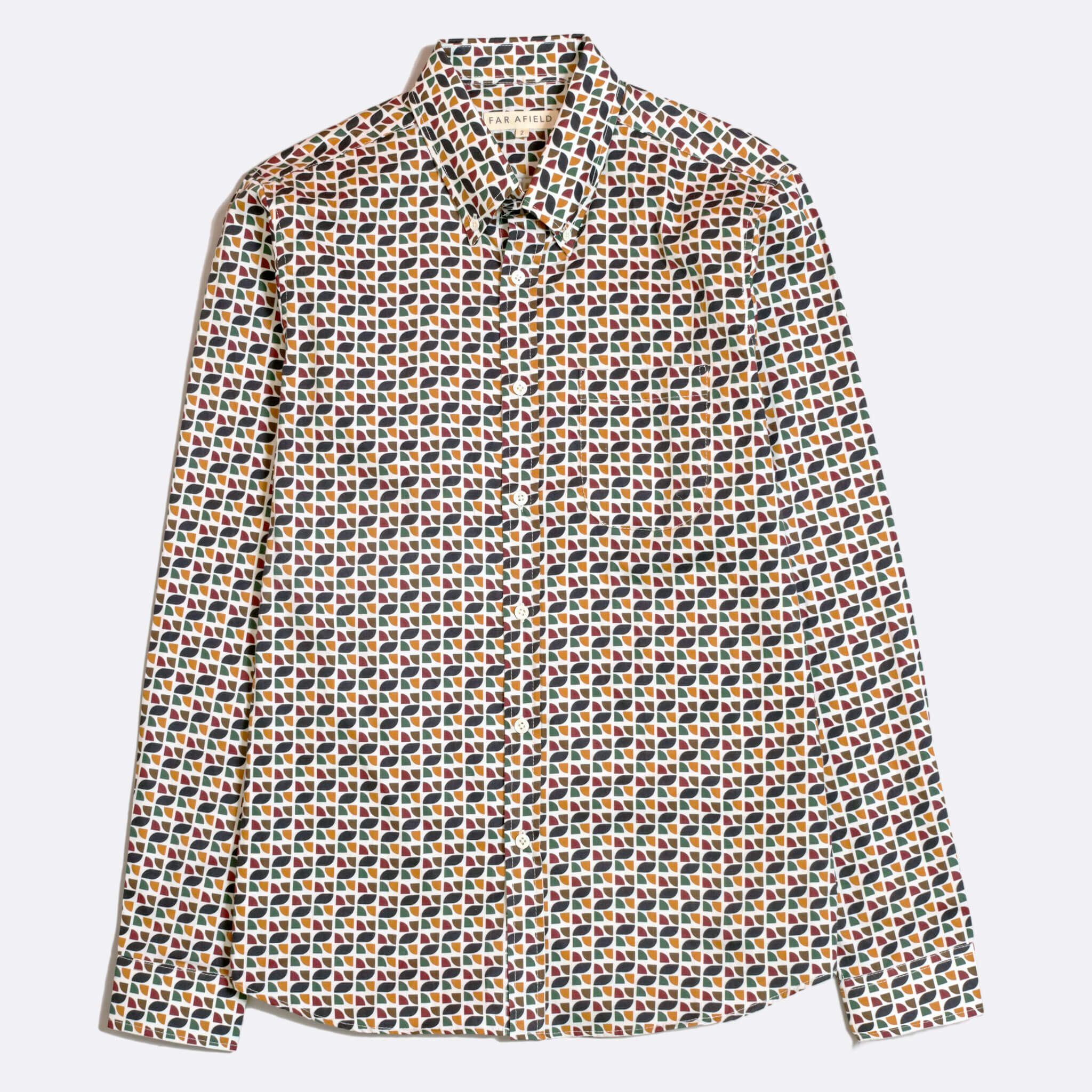 CAMISA FAR AFIELD MOD BUTTON DOWN POPOVA FLORAL