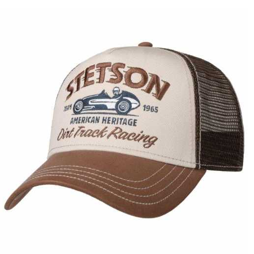 GORRA STETSON TRUCKER DIRT TRACK RACING BROWN