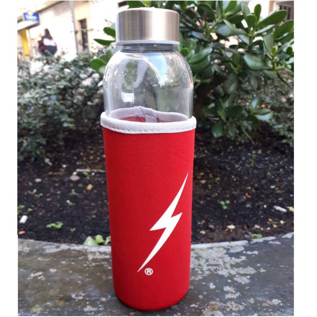 BOTELLA LIGHTNING BOLT ROJA